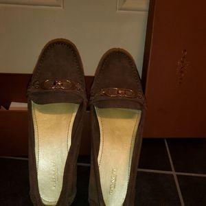 COACH Fortunata Suade shoe in Java